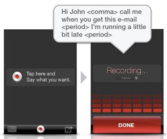 Dragon Dictation - hands free app transcribes voice to text - Mario