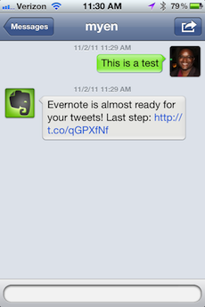 Organization Tip: Use @myEN to Sends Tweets to Evernote