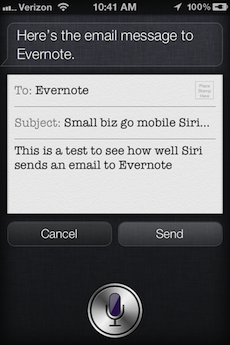 Siri-evernote-message