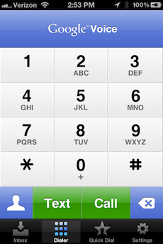 Google Voice Dial Pad