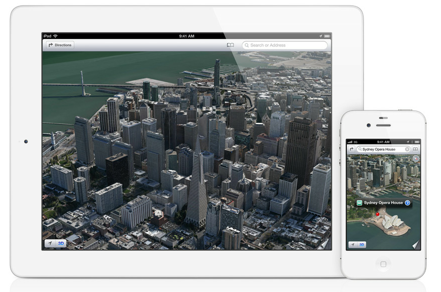 Apple Maps for iOS6 3D Screenshot