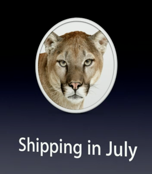 OS X 10.8 Mountain Lion Shipping in July