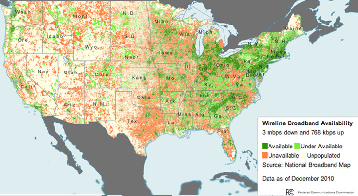 Broadband Availability Map