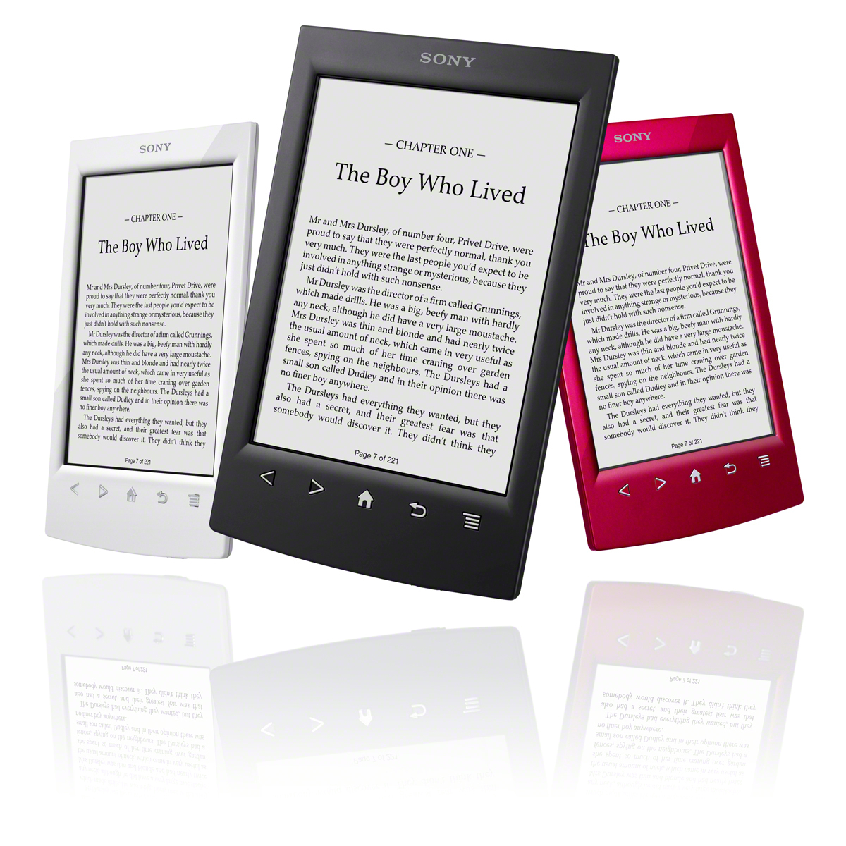 Sony Reader PRS-T2 Black White Red