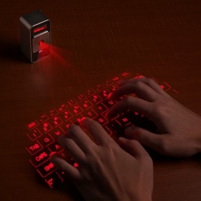 gadgets for the office: laser cube keyboard