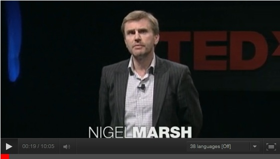 "Nigel Marsh Giving His TED Talk ""How to Make Work-Life Work"