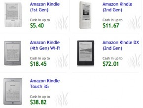 Kindle Buyback Values on Amazon