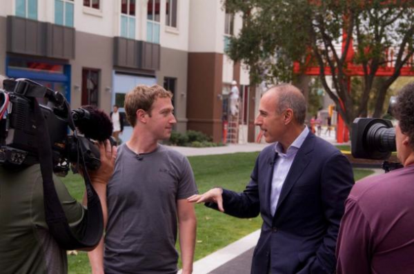 Facebook's Mark Zuckerberg with Matt Lauer
