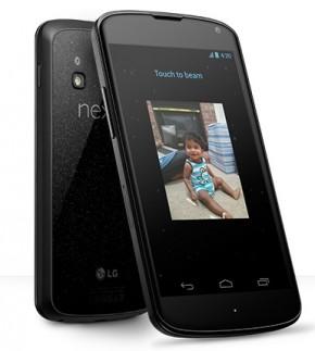 new Google Nexus 4 smartphone