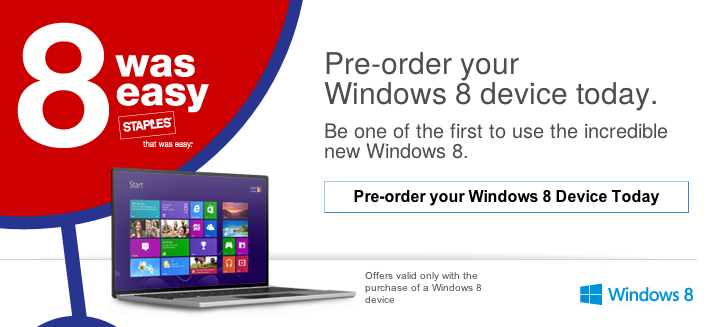 Staples Windows 8 Pre-Order Devices