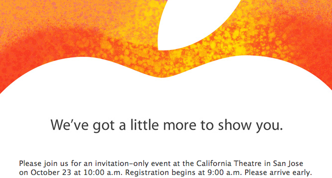 "Apple iPad Mini invite ""little more"" to show you"