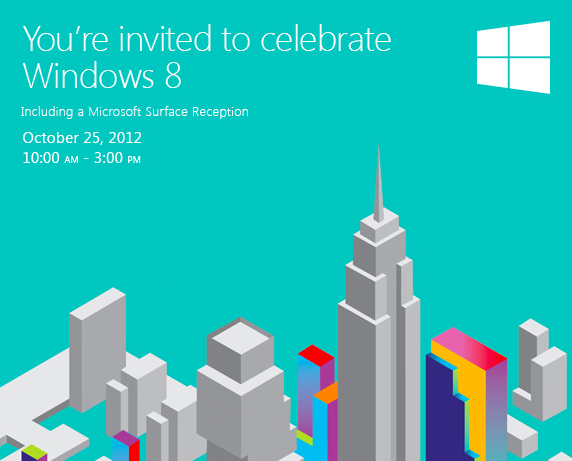 windows 8 and surface reception invitation