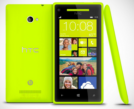 htc windows 8x with Beats Audio limelight yellow