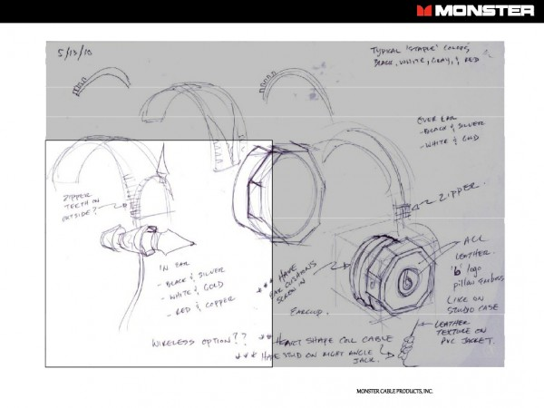 [image of the concept drawings for beats audio headphones]