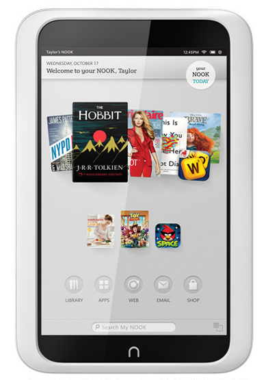"Barnes and Noble 7"" tablet Nook HD"