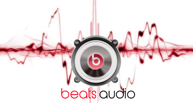 [picture of beats audio logo with waveforms in background]