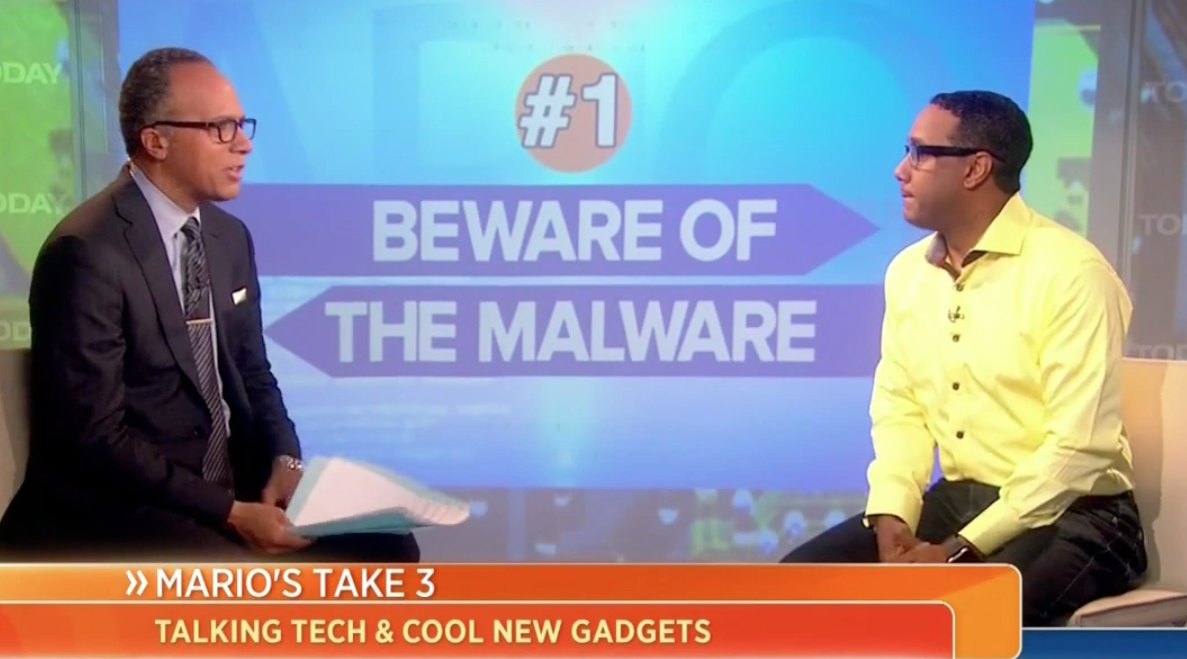 Mario's Top 3: Protect Your Bank Account from New Virus, plus a hot new app and a gadget for the bathroom