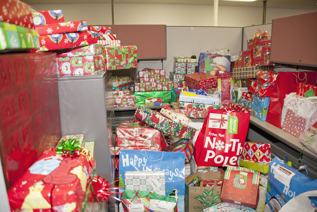Office full of holiday presents. Photo by GovWin on Flickr.