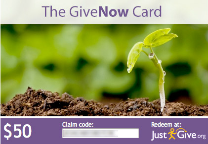 charity giving for the holidays pay it forward gift card