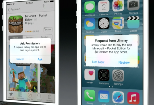 ios 8 permission to purchase