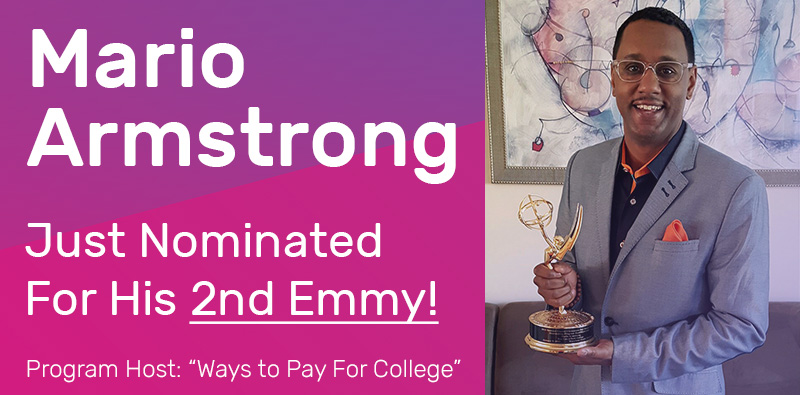 Mario Armstrong was just nominated for his 2nd Emmy Award for Hosting!